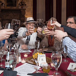Columbus Murder Mystery guests raise glasses